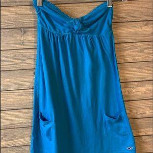 Hollister strapless summer dress